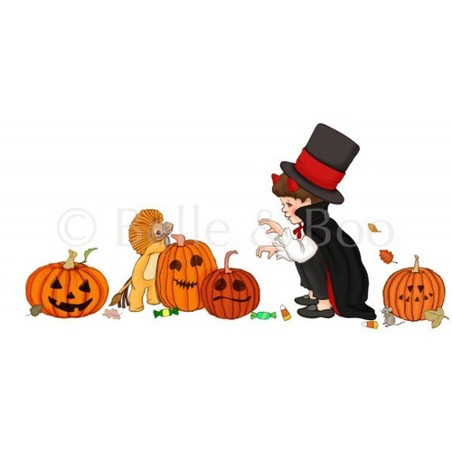 [벨앤부]할로윈 벽스티커  Ellis & Easy's Halloween Pumpkin wall sticker
